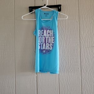 Champion teal reach for the stars tank top sz.M